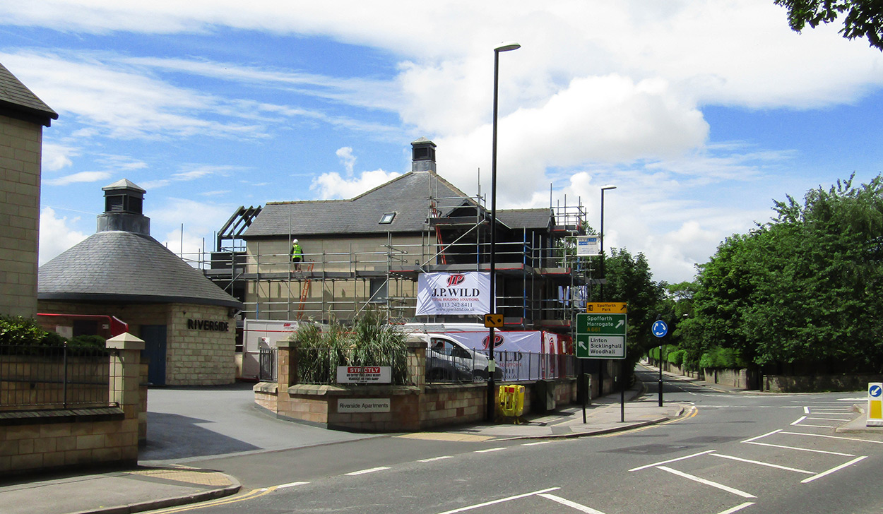 J. P. Wild onsite in Wetherby for Bellway Homes