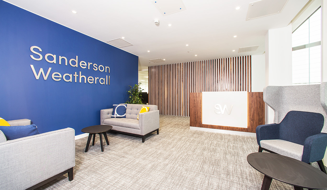 Epic 70 yards office relocation Practically Completes for Sanderson Weatherall LLP!